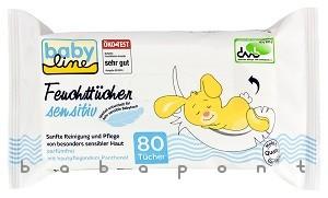 ápoló nedves törlőkendő érzékeny bőrre, BABY LINE 80db