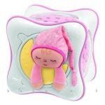 szivárvány kocka projektor Chicco 24301 rózsaszín, fény, zene, természethang