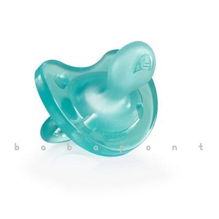 koraszülött és újszülött nyugtatócumi CHICCO PhysioSoft, szilikon, kék, 27112