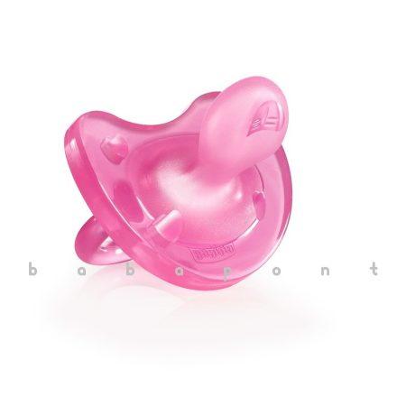 Koraszülött és újszülött nyugtatócumi CHICCO PhysioSoft, szilikon, pink, 27111
