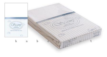 lepedő babaágyba 60x120 és 70x140cm között SCAMP fehér