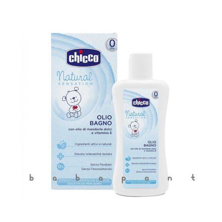 CHICCO NATURAL fürdető olaj, mandola olaj-E vitamin, 200ml, 74511