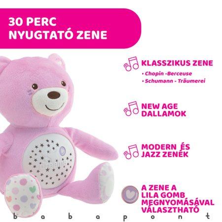 Baby Bear plüss maci projektor rózsaszín, CHICCO 801510