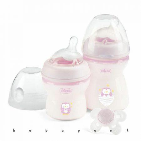Cumisüveg kezdőszett újszülötteknek CHICCO NATURALFEELING pink 8071165