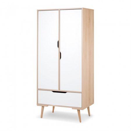szekrény KLUPS SOFIE kétajtós-fiókos fehér