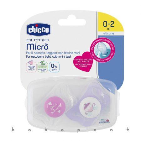 Koraszülött és újszülött cumi CHICCO Physio Micro lányos 2db 7512111