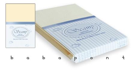 Lepedő babaágyba 60x120 és 70x140cm között SCAMP vanília