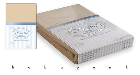 Lepedő babaágyba 60x120 és 70x140cm között SCAMP bézs