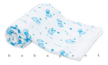 Textilpelenka mintás Scamp kék macik