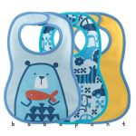 Előke Chicco EASY MEAL BIB 3 db-os Kék 0163012