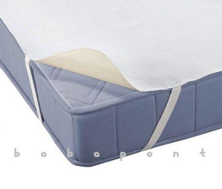 Vízhatlan matracvédő, légáteresztő lepedő babaágyba 80x160cm