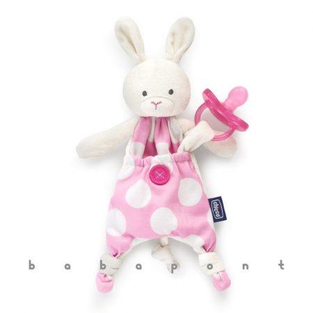 Szundikendő és cumitartó CHICCO Pocket Friend Pink 80121