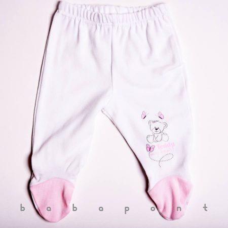 Talpas babanadrág TOPP Teddy fehér-rózsaszín