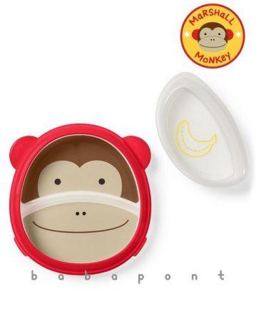 Csúszásgátlós tányér SKIP HOP ZOO Monkey