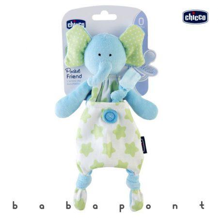 Szundikendő és cumitartó CHICCO Pocket Friend Elephant 80132