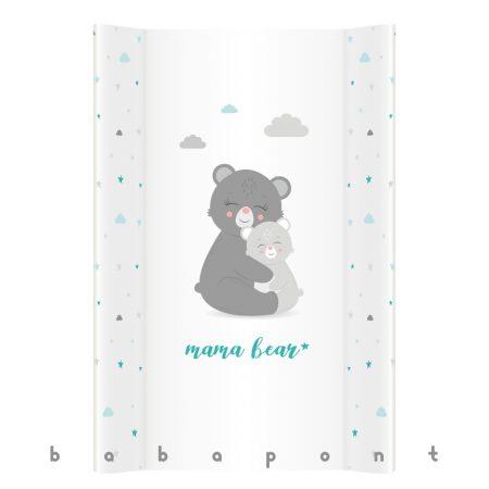 Pelenkázó lap merev aljú peremes, 47x70cm Klups Mama bear 003-PT70