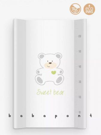 Pelenkázó lap merev aljú peremes, 47x70cm Klups Sweat bear white 165-PT70