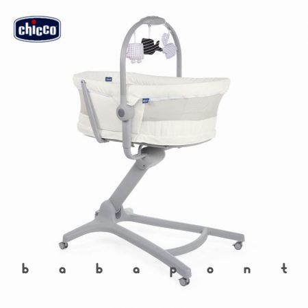 Bölcső-pihenőszék-etetőszék-fotel CHICCO BABY HUG AIR 4in1 White Snow 7919330