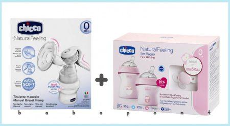 Mellszívó + Cumisüveg kezdőszett CHICCO BASIC Pink