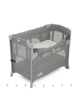 Ágy mellé tolható utazóágy JOIE KUBBIE SLEEP Foggy Grey