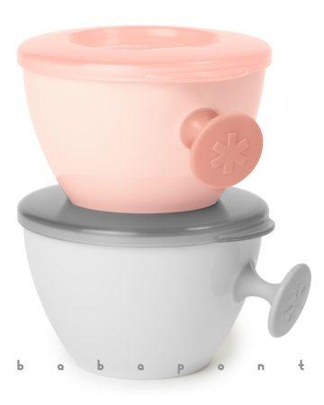 Easy-Feed ergonómikus etetőtálka SKIP HOP Gray-Pink 2db
