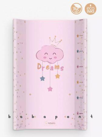 Pelenkázó lap merev aljú peremes, 47x70cm Albero Mio, koronás felhő pink-407-PT70