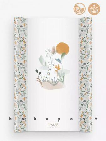 Pelenkázó lap merev aljú peremes, 47x70cm Albero Mio, safari-E003-PT70