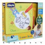 Textil könyv, vízzel tölthető filctollal színezhető CHICCO Season Book ch0106310